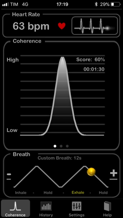 HeartRate+ Coherence Screenshots