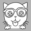 Aekkarin Rojvongpaisal - Nerdy Kitty: Cool Cat Stickers artwork