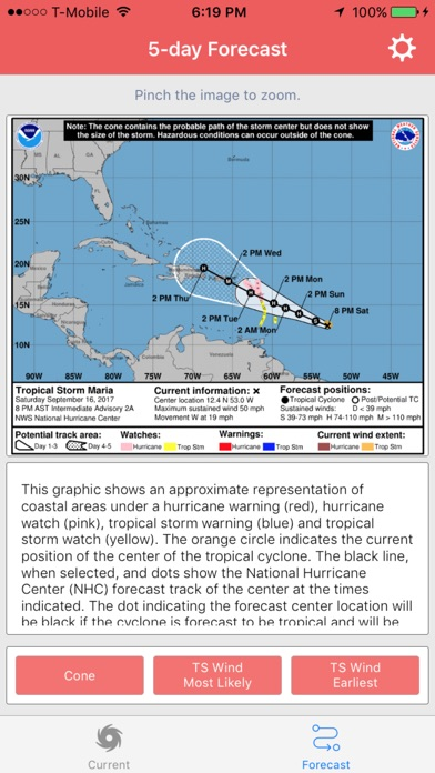 National Hurricane Center Data screenshot 2