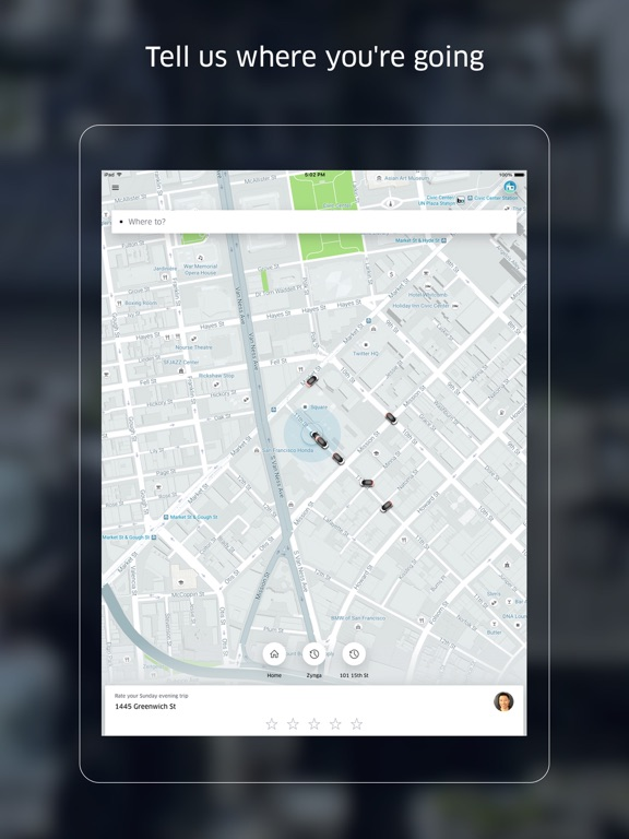 Uber Screenshots