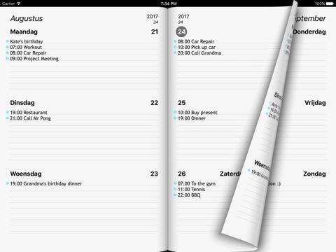 Week Agenda Ultimate screenshot 2