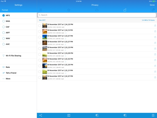 Voice Recorder,Voice Memos PRO Screenshots