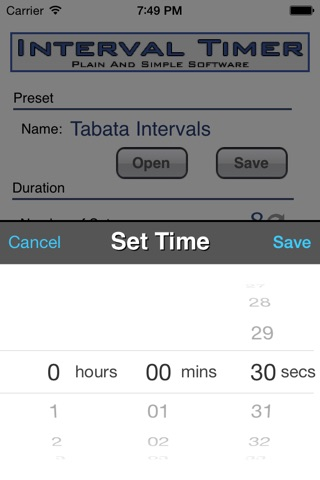Interval Timer screenshot 2
