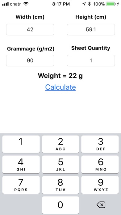 Screenshot for Metric Paper Weight in Denmark App Store