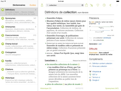 Antidote Mobile – Français screenshot 1
