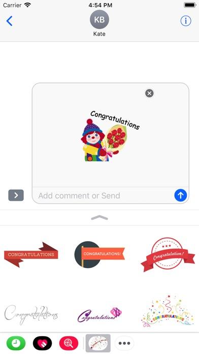 Congratulations Stickers 2018Скриншоты 4