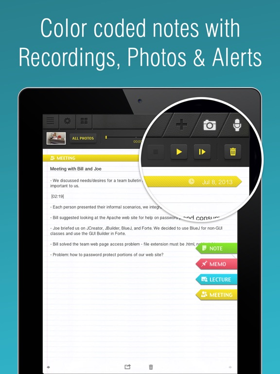 SuperNote Notes Recorder+Photo Screenshots