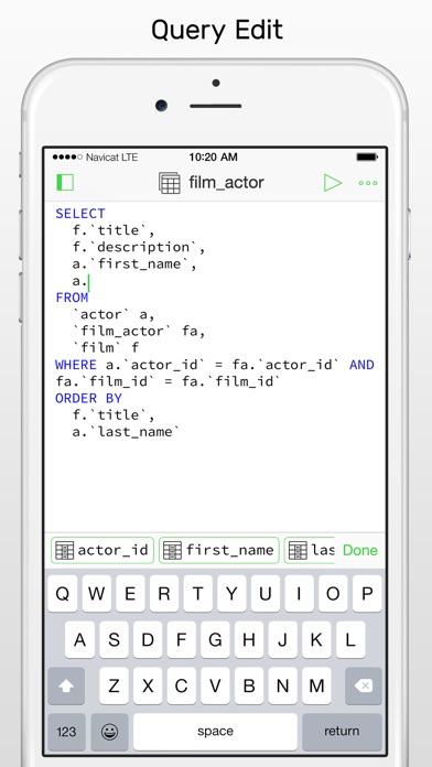 Screenshot #8 for Navicat for MySQL - mobile database management GUI