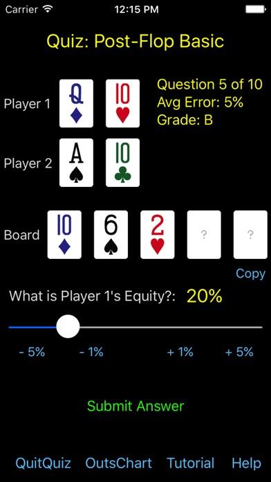 Hold'em Odds Quizzer screenshot two