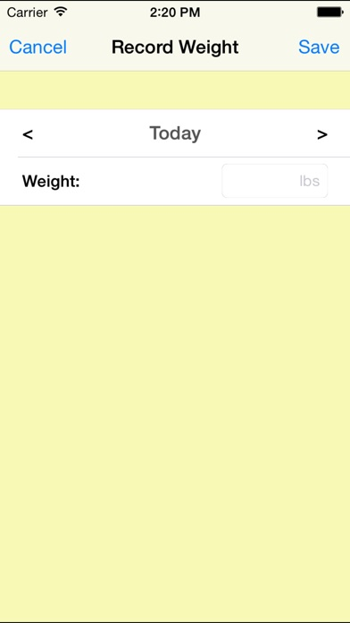 weight tracking
