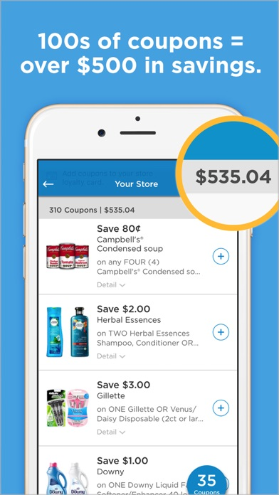 Manufacturer coupons app