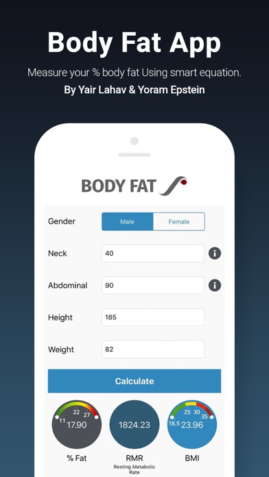 Body Fat App screenshot 1