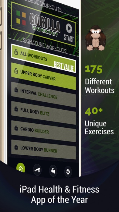Gorilla Workout : Athletic Fitness Training on a Budget Screenshot 1