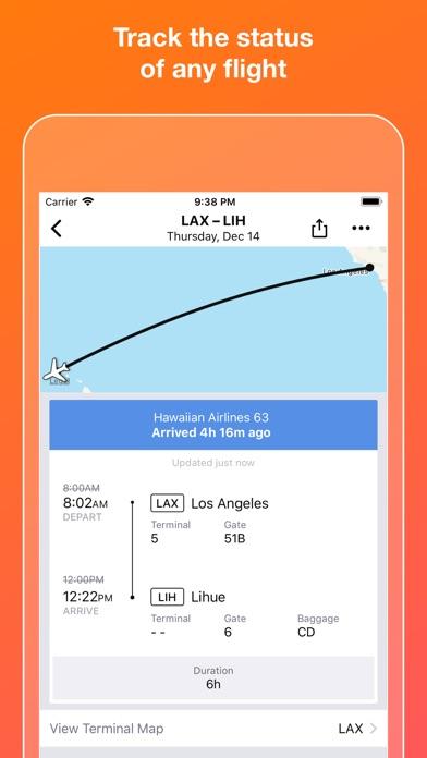 Screenshot 3 for Kayak's iPhone app'