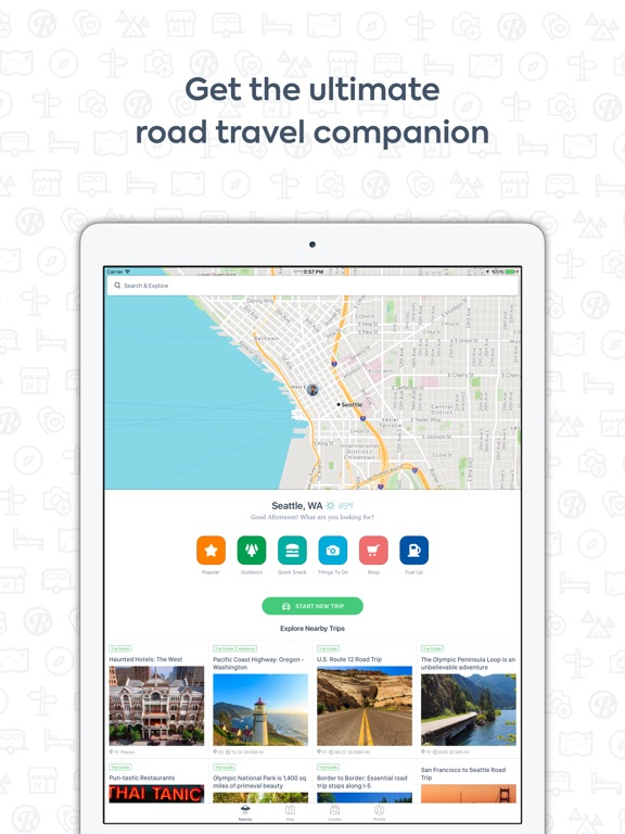 Roadtrippers Trip Planner On The App Store - Us road map for ipad