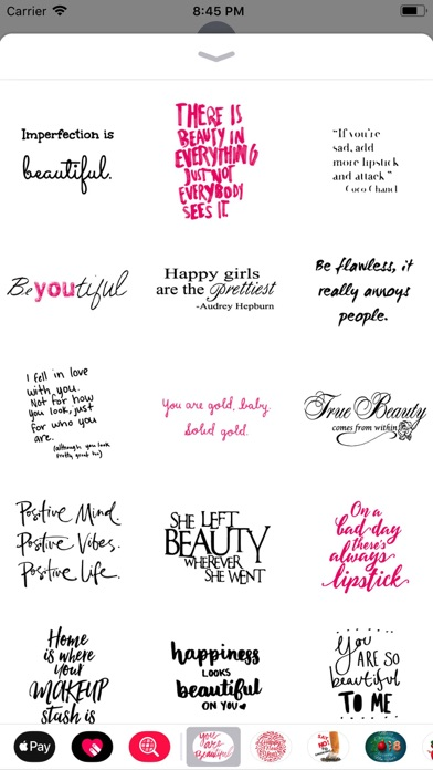 Screenshot for Beauty Love Quote Sticker Pack in Switzerland App Store