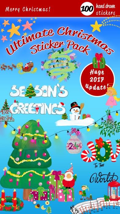 Стильные рождественские наклейСкриншоты 1