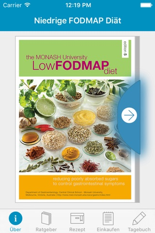Monash University FODMAP diet screenshot 1