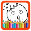 Candy Cookie Book Coloring Page Games