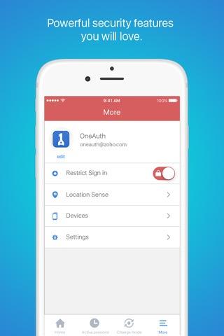 Zoho OneAuth screenshot 4