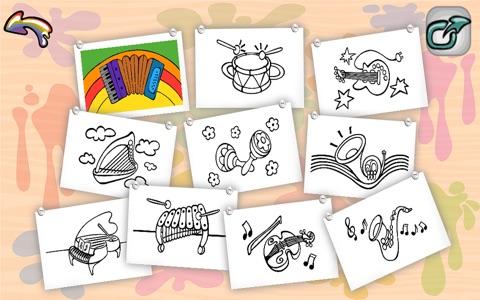 Wesoła kolorowanka - ciekawa rozrywkowo-edukacyjna gra dla dzieci to wspaniała zabawa z rysunkami, kolorami i dźwiękami screenshot 4