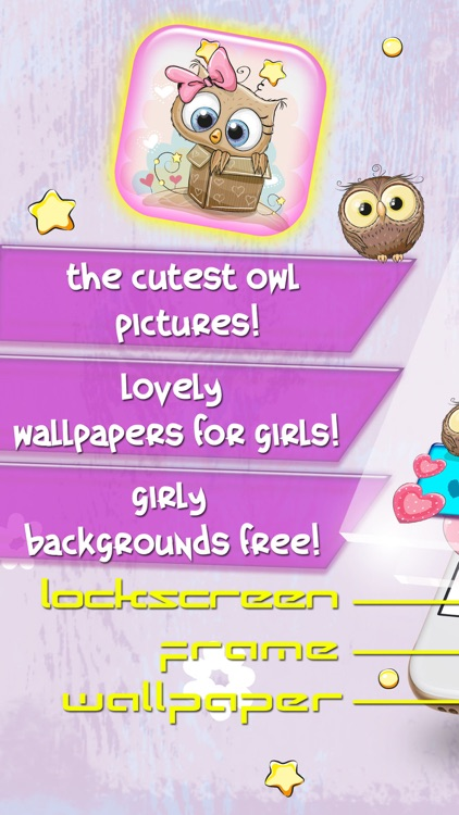 Cute Owl Wallpaper Collection Lovely Backgrounds For Girls And Custom Lock Screen Maker Free