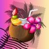 熱帶島嶼賀卡 - 發送美麗晴朗海灘和棕櫚 樹木明信片