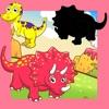 Animiertes Dino-saurier Spiel-e & Mal-buch für kluge Kind-er: Dino Puzzle für Klein-kinder