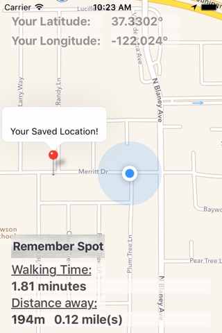 Find Your Way Back - Mark and remember any location to find your way back later. screenshot 1
