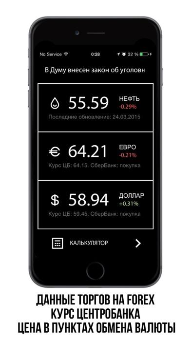 Курс валюты. Удобное приложение, которое в реальном времени показывает курс рубля, курс доллара, курс евро и стоимость нефти.Скриншоты 1
