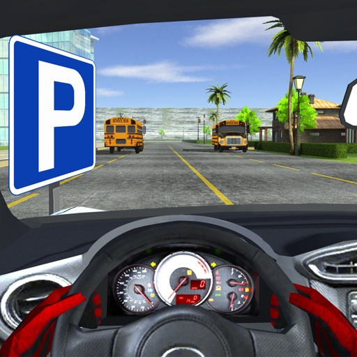 In-Car Parking Miami - City Racing First Person Driving Car Simulator Game FREE iOS App