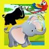 Animiertes Safari Tier-e Spiel-e & Mal-buch für kluge Kind-er Ein Puzzle für Klein-kinder