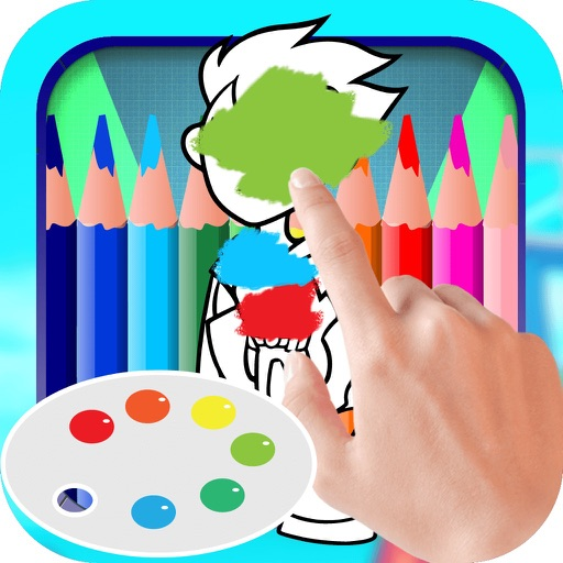 Color Book Game for Kids: Teen Titans Go Version iOS App