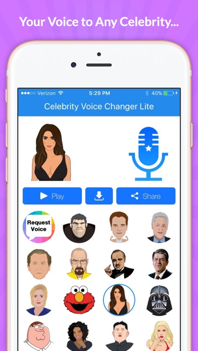 Screenshots of Celebrity Voice Changer - Funny Voice FX Soundboard Free for iPhone