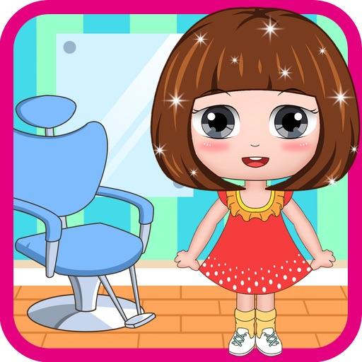 冰雪公主芭比娃娃理发换装虚拟发型屋(欢乐盒子)理发店沙龙游戏大全