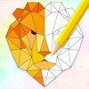 The Colorzo - Geometric Animal Coloring Book For Stress Relieving