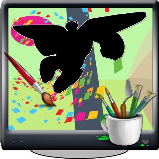 Coloring Page Game Big Hero Cartoons Edition iOS App