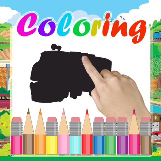 Coloring Paint for Kids Thomas and Friends minis Edition iOS App