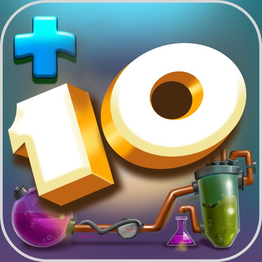 Plus 10 Mental Math Game for Brain Training with Addition and Subtraction Drill iOS App