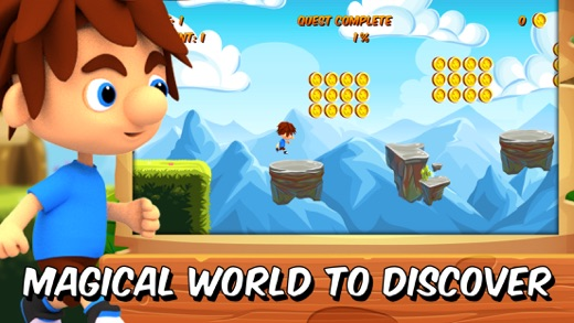 Hopper Steve - platformer games in adventure world Screenshot