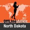 北达科他州 離線地圖和旅行指南