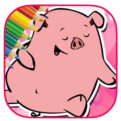Pig Game Coloring Page Free Version iOS App