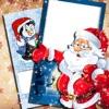 聖誕 和 新年 卡 - 發送 冬季 假日 問候 寫 文本 上 圖片