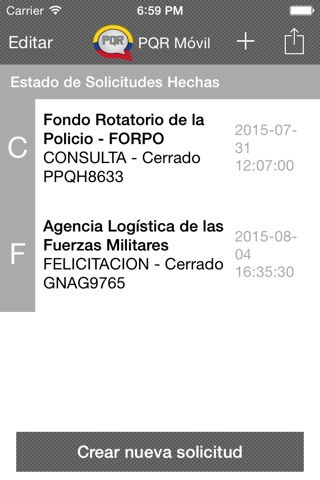 PQR Movil screenshot 1