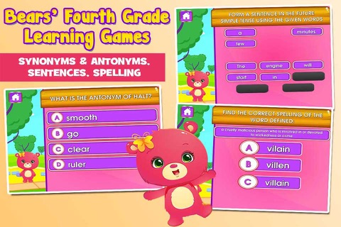 Bears 4th Grade Games School Edition screenshot 3