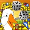 Gänsespiel Brettspiel - Spiele für 2 bis 4 Spieler