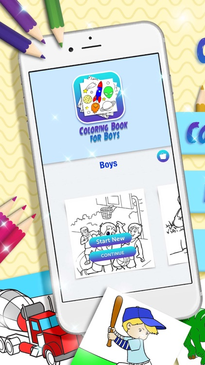 Coloring Book for Boys – Painting Games for Kids by Vladimir Marjanovic