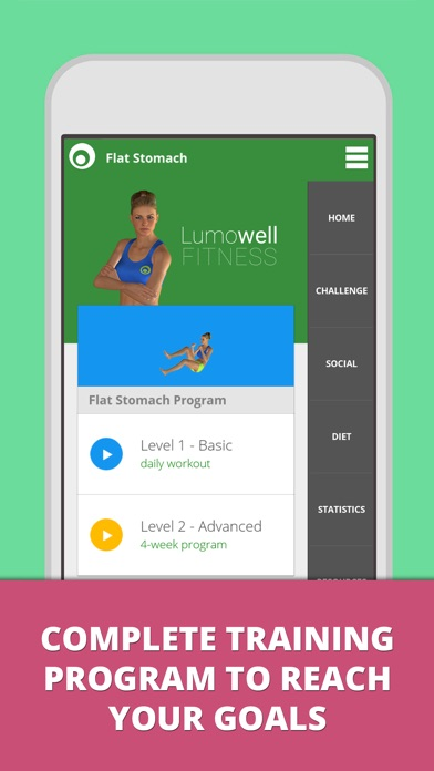 download Flat Stomach Workouts: belly fat exercises - Lumowell apps 0