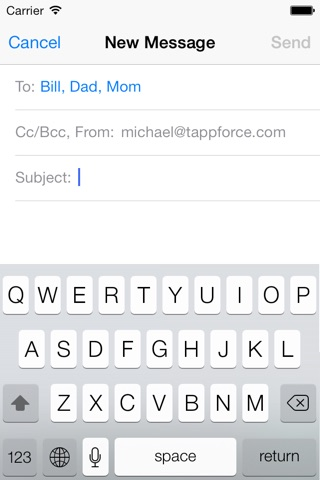 GroupMail - Group E-mails screenshot 3
