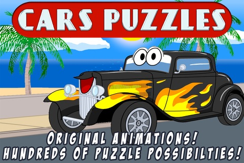 Cars Jigsaw Puzzles - Free Kids Jigsaw Puzzle with Fun Cartoon Car and Truck Movies - By Apps Kids Love, LLC screenshot 1